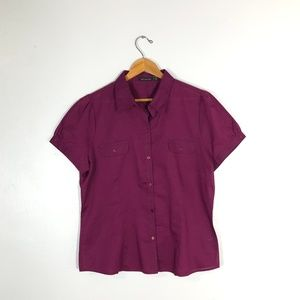 NWT $39 The Limited Purple Button-Down Shirt-  XL